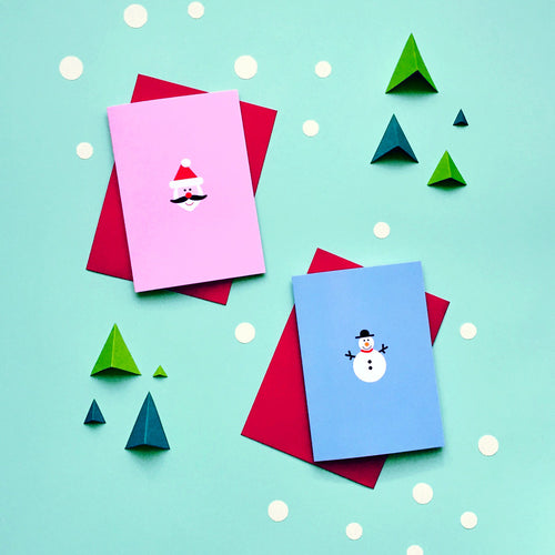 Merry and Bright Christmas Set No.1 (Set of 6) | Paper & Cards Studio