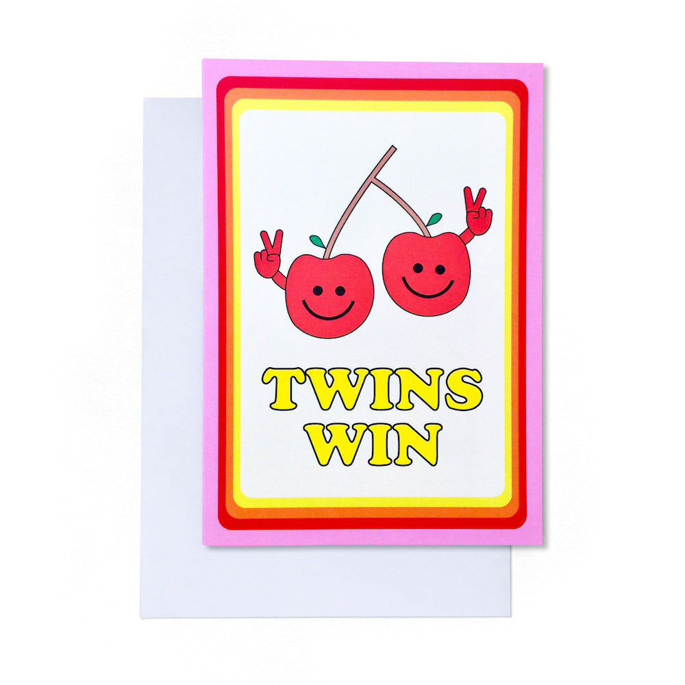 Twins Win Card | Paper & Cards Studio