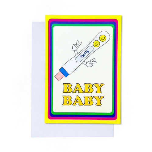 Baby Baby (Twins) Card | Paper & Cards Studio