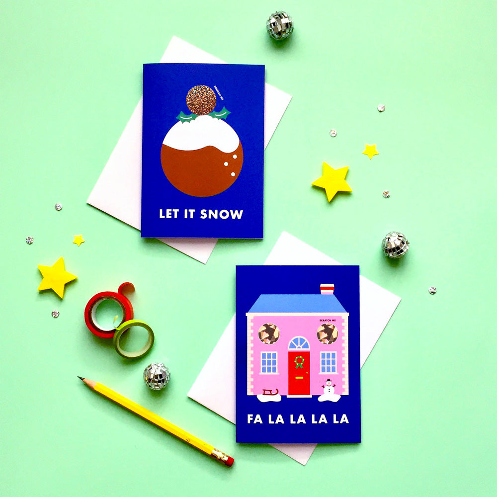 Christmas Scratch Card Set No.2 (Set of 6) | Paper & Cards Studio