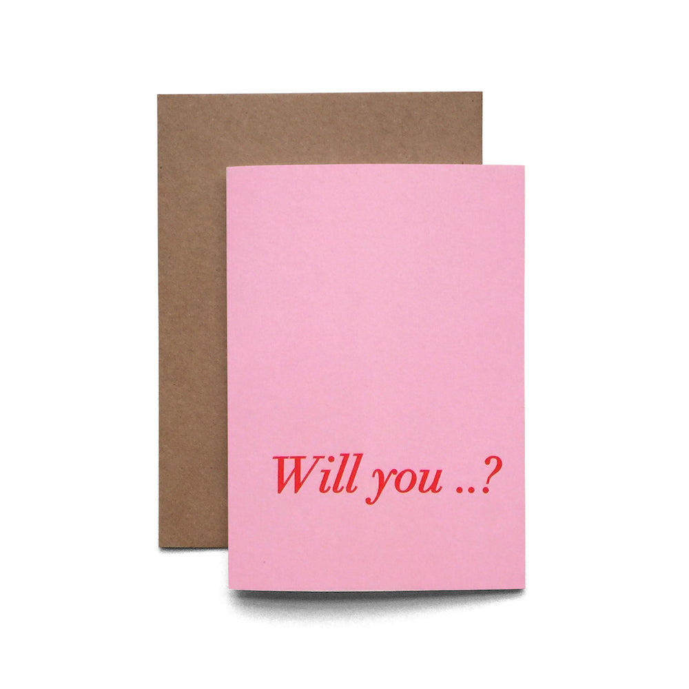 Will You...? Card | Paper & Cards Studio
