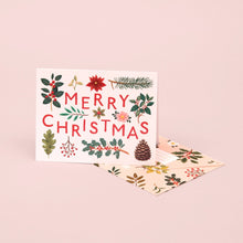 Load image into Gallery viewer, Holiday Plants Merry Christmas Card - Cream | Paper & Cards Studio