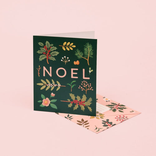 Holiday Plants Noel Card - Deep Green