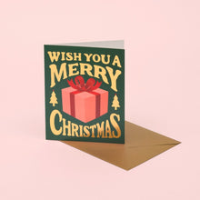 Load image into Gallery viewer, Christmas Present Card - Deep Green | Paper & Cards Studio