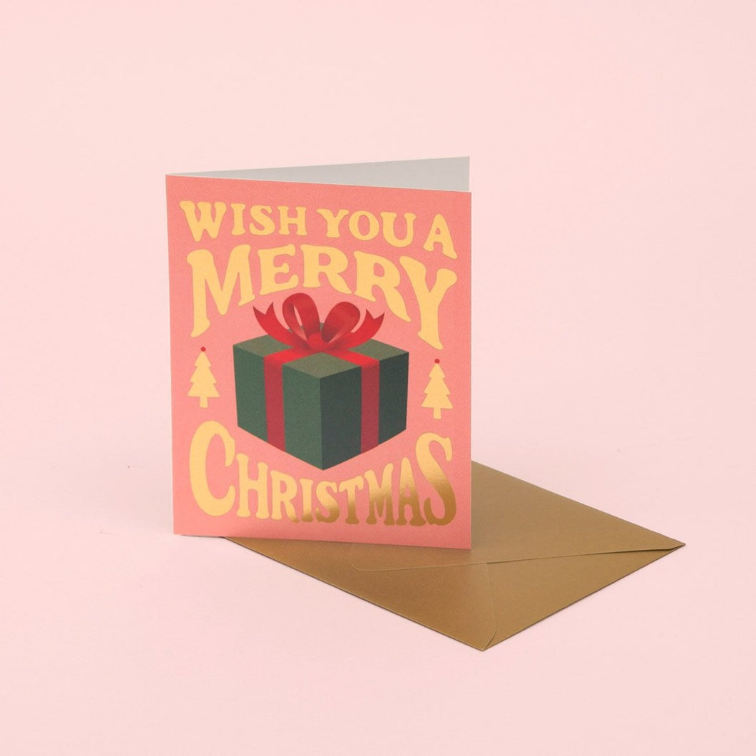 Christmas Present Card - Pink | Paper & Cards Studio