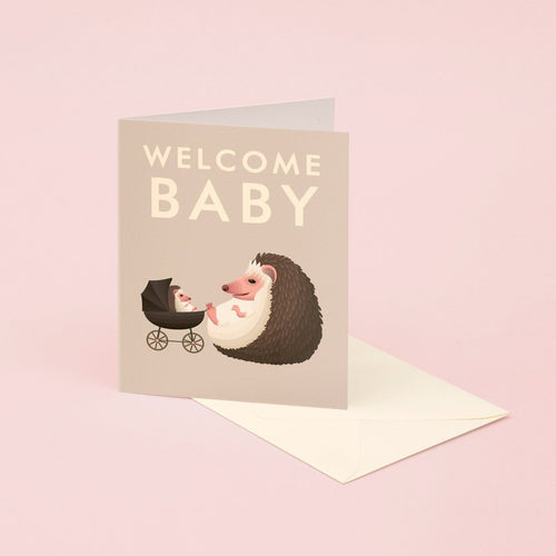 Hedgehog Baby Card | Paper & Cards Studio