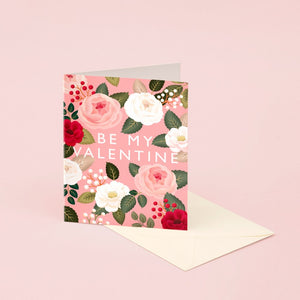 Pink Rose Valentine's Day Card | Paper & Cards Studio