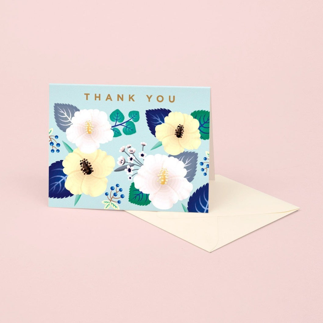 Hibiscus Thank You Card | Paper & Cards Studio