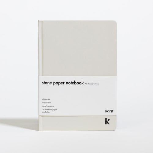 Karst Lined Hardcover Notebook - Stone | Paper & Cards Studio