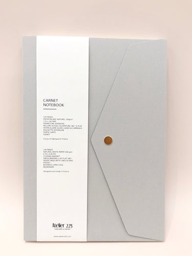 Light Grey Notebook Pliage | Paper & Cards Studio