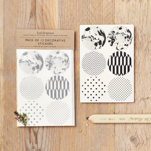 Black and White Pattern Stickers