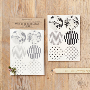 Black and White Pattern Stickers | Paper & Cards Studio