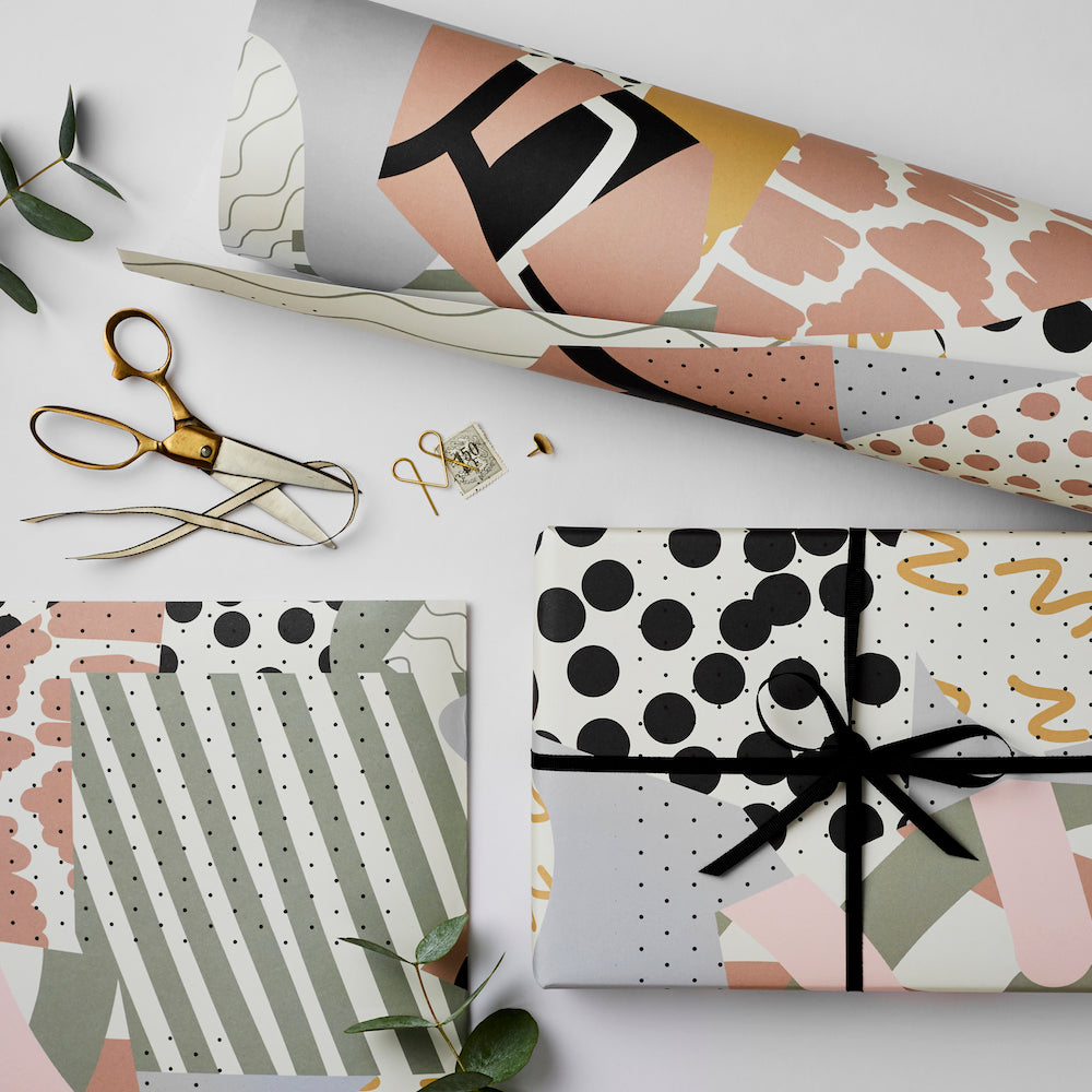 Collage Gift Wrap Sheet | Paper & Cards Studio