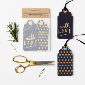 Assorted Navy & Gold Tags | Paper & Cards Studio