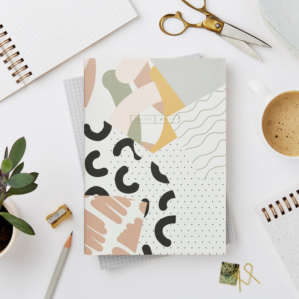Wiro Collage Notebook, Blank and Dot Grid | Paper & Cards Studio