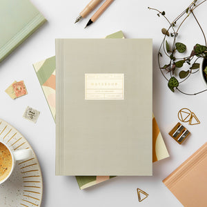 Grey Lay-Flat Notebook, Blank | Paper & Cards Studio