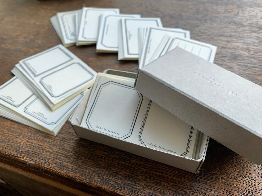 Letterpress Frame Sticker Box | Paper & Cards Studio