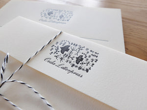 Letterpress Forest Letter Set | Paper & Cards Studio