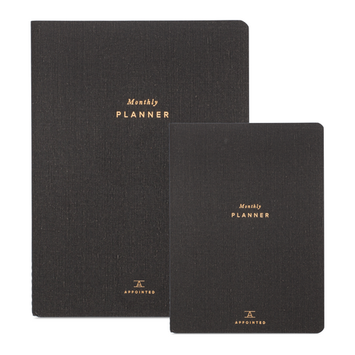 Appointed Large Monthly Planner in Charcoal Gray | Paper & Cards Studio