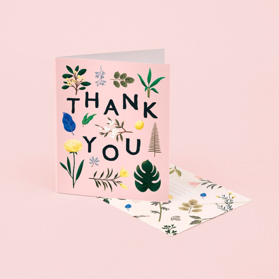 Assorted Botanical Thank You - Pink | Paper & Cards Studio