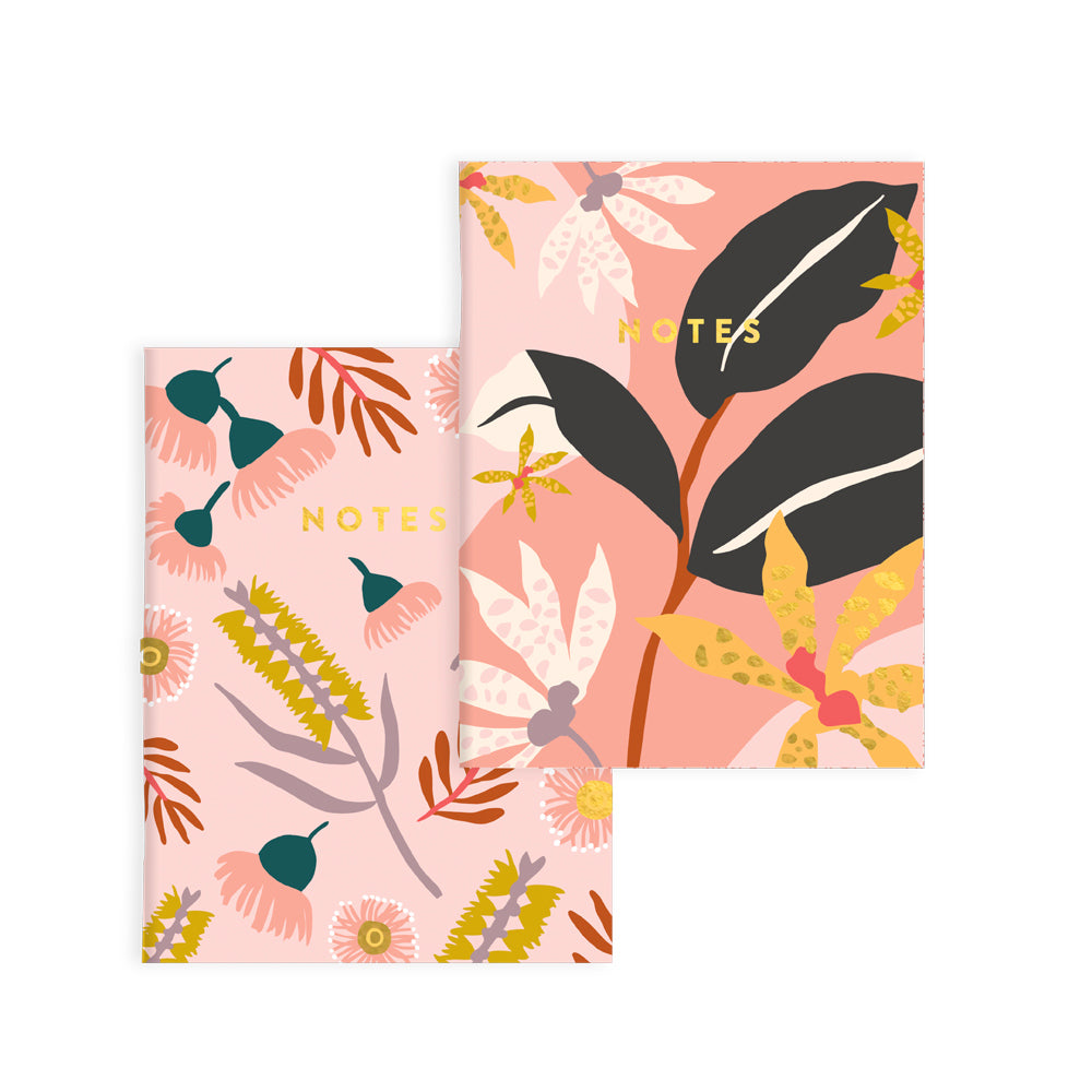 Orchid Notebook (2 Pack), Lined and Blank | Paper & Cards Studio