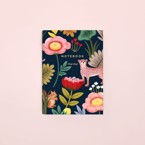 Animal Kingdom Pocket Notebook - Navy, Blank | Paper & Cards Studio