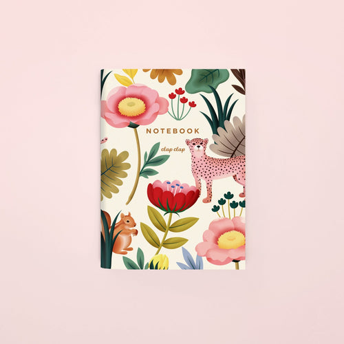Animal Kingdom Pocket Notebook - Cream, Blank | Paper & Cards Studio