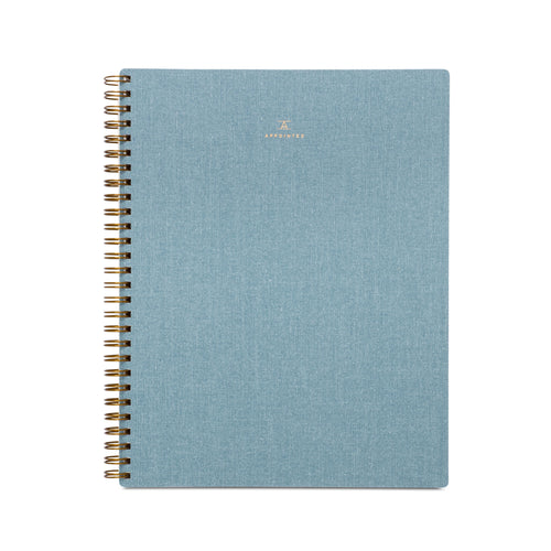 Appointed Workbook in Chambray Blue, Lined/Grid/Blank | Paper & Cards Studio