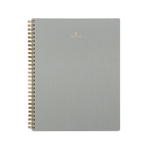 Appointed Notebook in Dove Gray, Lined/Grid/Blank | Paper & Cards Studio