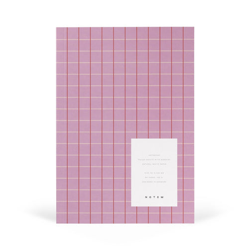 VITA Softcover Notebook - Medium, Rose Grid, Lined