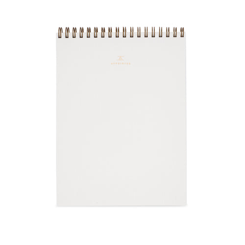 Appointed Office Notepad in Linen White, Lined | Paper & Cards Studio