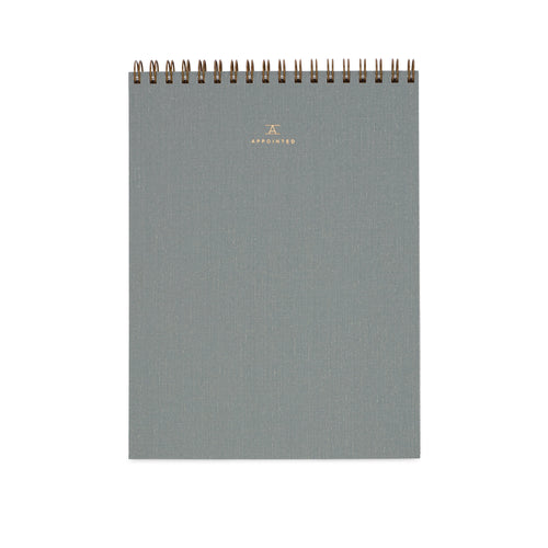 Appointed Office Notepad in Dove Gray, Lined | Paper & Cards Studio