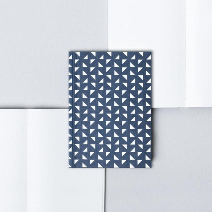 Pocket Layflat Notebook, Massi Print in Navy | Plain | Paper & Cards Studio