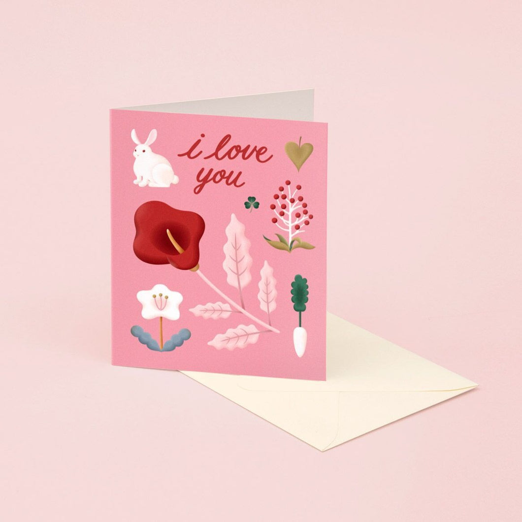 I Love You - Rabbit | Paper & Cards Studio