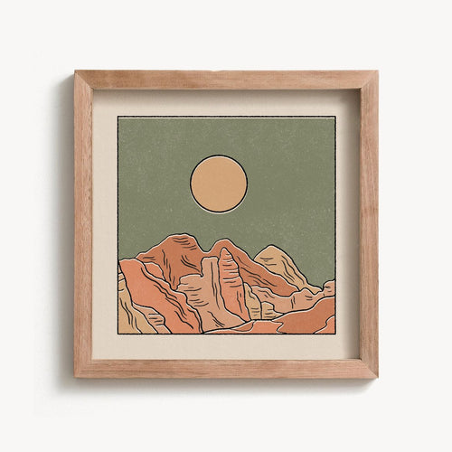 Rocky Mountains Print | Paper & Cards Studio