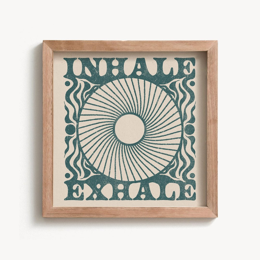 Inhale Exhale Print | Paper & Cards Studio