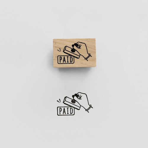 Paid Stamp | Paper & Cards Studio