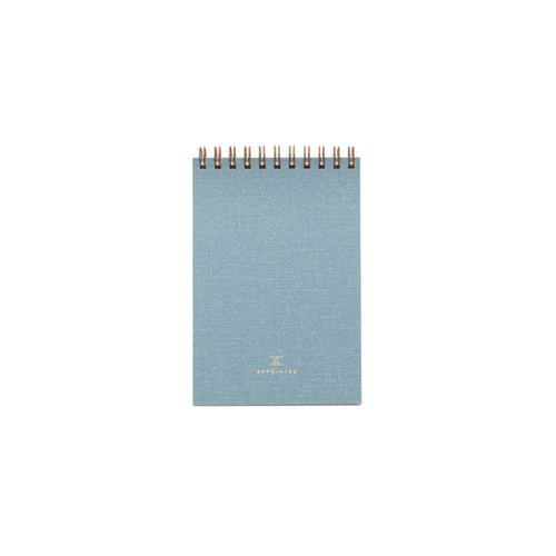 Appointed Pocket Notepad in Chambray Blue, Lined | Paper & Cards Studio
