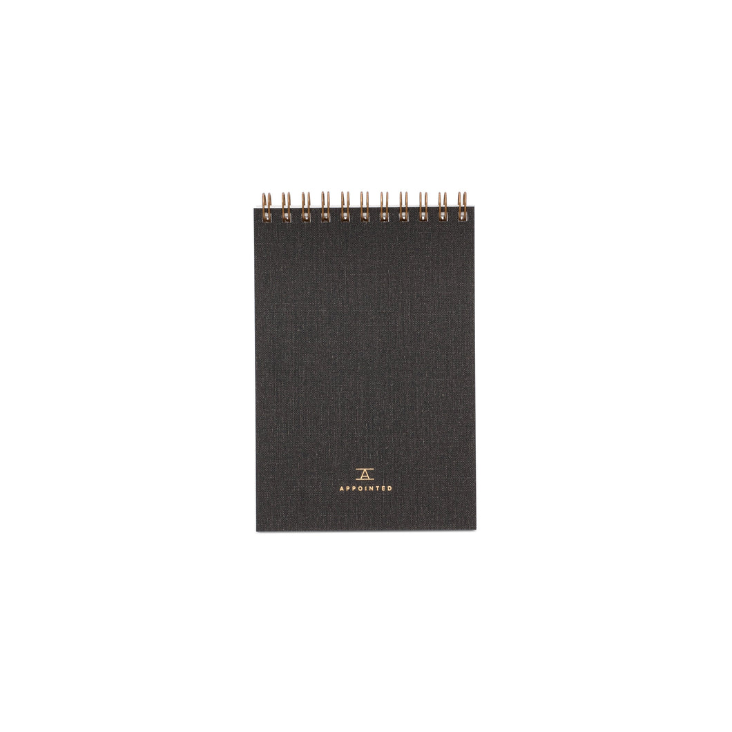 Appointed Pocket Notepad in Charcoal Gray, Lined | Paper & Cards Studio