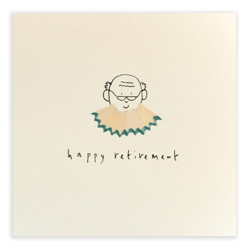 Retirement Beard - Pencil Shavings Card | Paper & Cards Studio