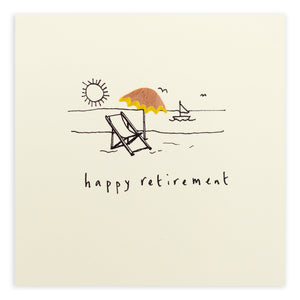 Retirement Deckchair - Pencil Shavings Card | Paper & Cards Studio