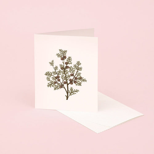 Botanical Scented Card - Hinoki | Paper & Cards Studio