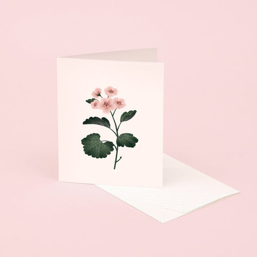 Botanical Scented Card - Geranium | Paper & Cards Studio