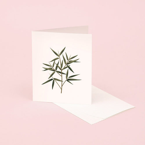 Botanical Scented Card - Bamboo | Paper & Cards Studio