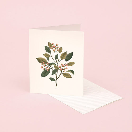 Botanical Scented Card - Sandalwood | Paper & Cards Studio