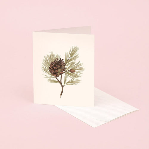 Botanical Scented Card - Pine | Paper & Cards Studio