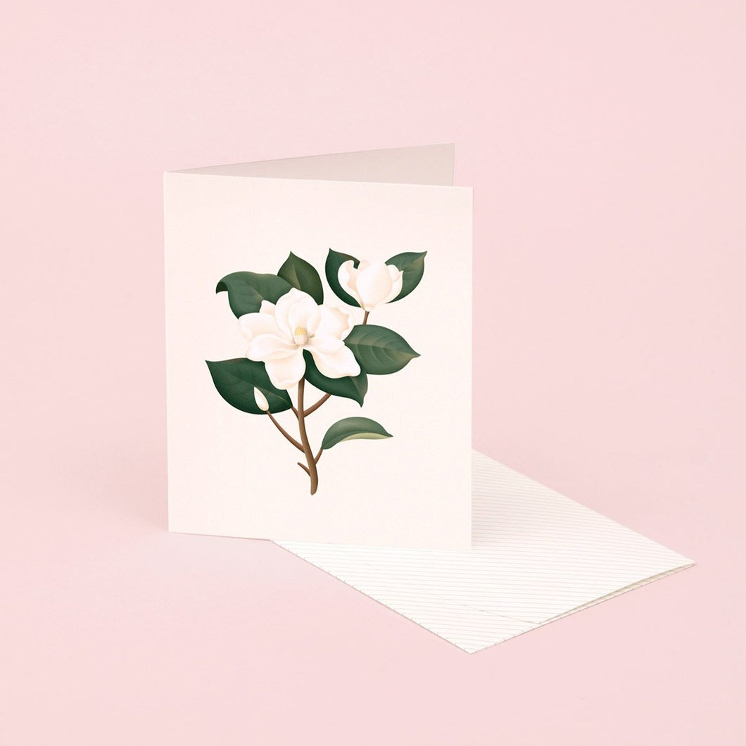 Botanical Scented Card - Magnolia | Paper & Cards Studio