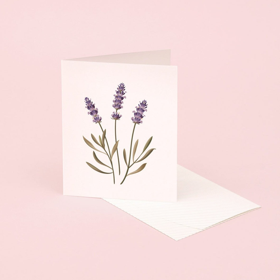 Botanical Scented Card - Lavender | Paper & Cards Studio