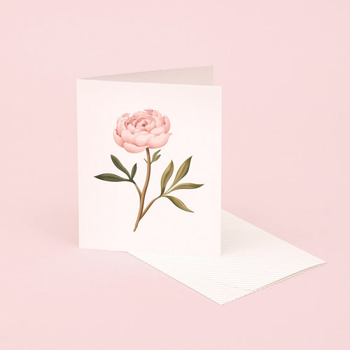 Botanical Scented Card - Peony | Paper & Cards Studio