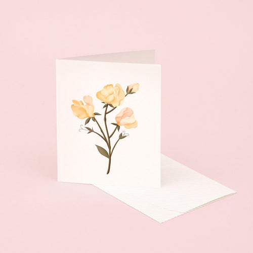 Botanical Scented Card - Sweet Pea | Paper & Cards Studio
